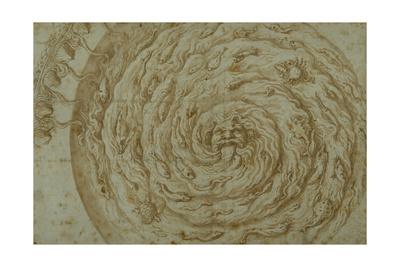 The Stream Oceanus Giclee Print by Giulio Romano