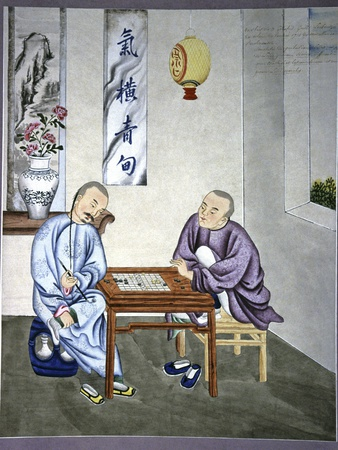 Men Playing Go, Artwork Photographic Print by CCI Archives