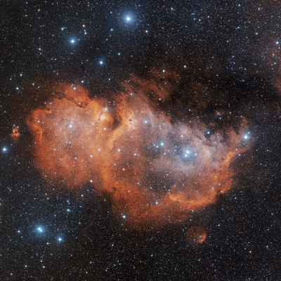 Emission Nebula IC 1848 Premium Photographic Print by Davide De Martin