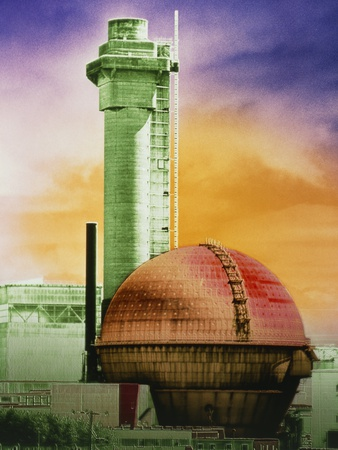False-col Photo of Sellafield Nuclear Power Plant Premium Photographic Print by Dr. Jeremy Burgess