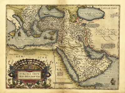 Ortelius's Map of Ottoman Empire, 1570 Premium Photographic Print by Library of Congress