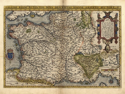 Ortelius's Map of France, 1570 Photographic Print by Library of Congress!
