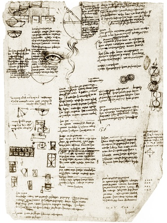 Da Vinci's Notebook Premium Photographic Print by Library of Congress