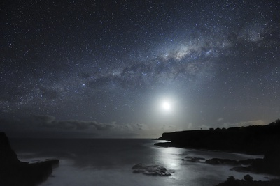 Milky Way Over Mornington Peninsula night sky travel destinations 2015 photo poster by Alex Cherney