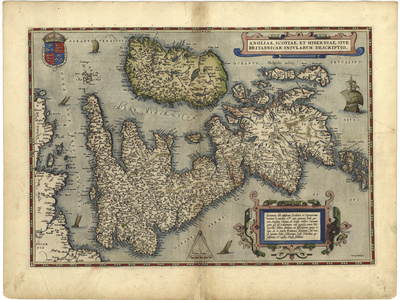 16th Century Map of the British Isles Premium Photographic Print by Library of Congress