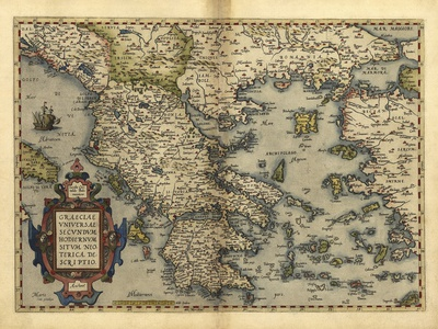 Ortelius's Map of Greece, 1570 Photographic Print by Library of Congress