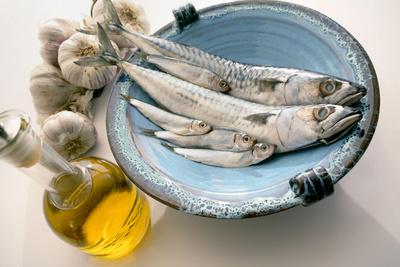 Plate of Mackerel Photographic Print by Erika Craddock