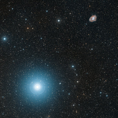 Crab Nebula And Zeta Tauri Star Premium Photographic Print by Davide De Martin