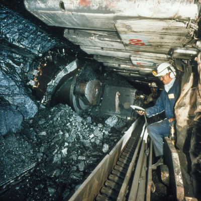 Technician Measures Noise Levels In a Coal Mine Premium Photographic Print by  Crown