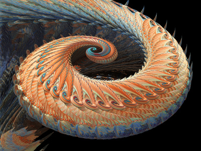 Dragon Tail Fractal Lámina fotográfica por Laguna Design