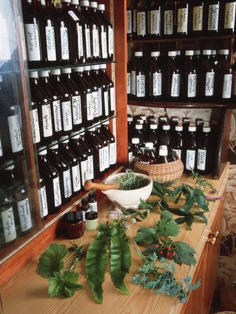 Herbal Pharmacy Photographic Print by Tek Image