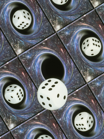Art of Dice, Black Holes And Chance Photographic Print by Mehau Kulyk