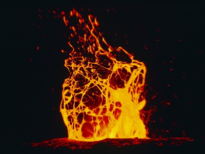 Lava Flow From Kilauea Volcano Photographic Print by Brad Lewis