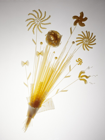 Pasta Arranged In the Shape of a Flower Photographic Print by Veronique Leplat
