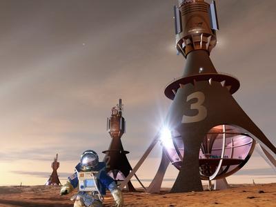 Space Tourism on Mars Photographic Print by Detlev Van Ravenswaay