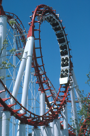 Loop Section of a Rollercoaster Ride Photographic Print by Kaj Svensson