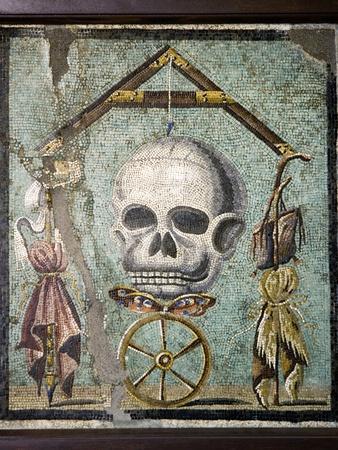 Roman Memento Mori Mosaic Premium Photographic Print by Sheila Terry