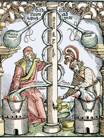 Distillation, 16th Century Woodcut Premium Photographic Print by Sheila Terry