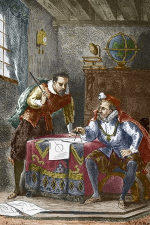 Johannes Kepler And Tycho Brahe Photographic Print by Sheila Terry