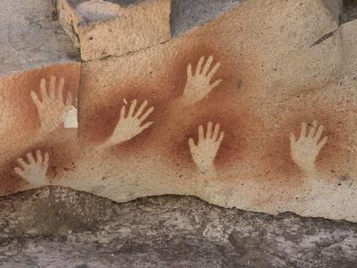 Cave of the Hands, Argentina Premium Photographic Print by Javier Trueba