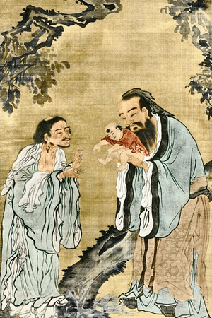Lao-Tse, Confucius And Buddha Photographic Print