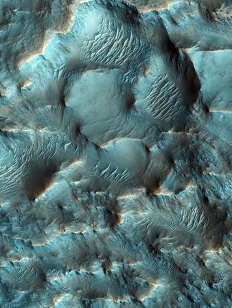 Terra Sirenum Region, Mars Photographic Print by  NASA