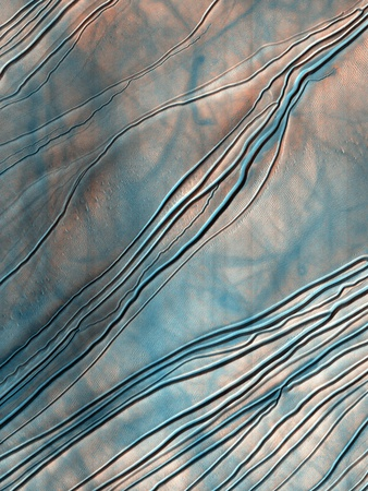 Gullies on a Martian Sand Dune Photographic Print by  NASA
