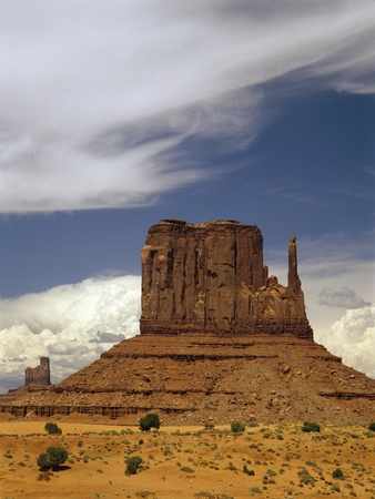 Sandstone Butte, Monument Valley Photographic Print by David Parker