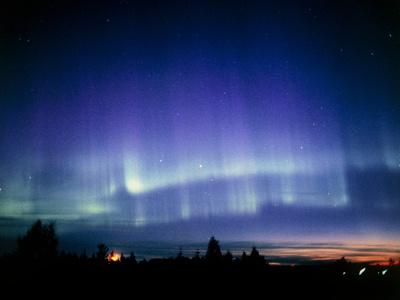 View of a Colourful Aurora Borealis Display Premium Photographic Print by Pekka Parviainen