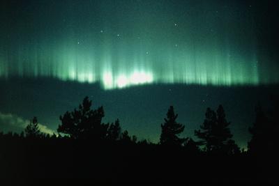 View of An Aurora Borealis Display Photographic Print by Pekka Parviainen