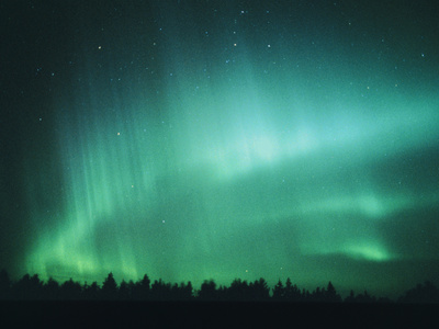 Aurora Borealis (Northern Lights) Seen In Finland Premium Photographic Print by Pekka Parviainen