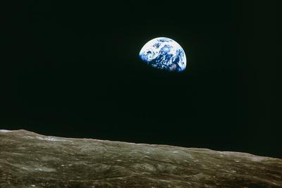 Earthrise Over Moon, Apollo 8 Photographic Print
