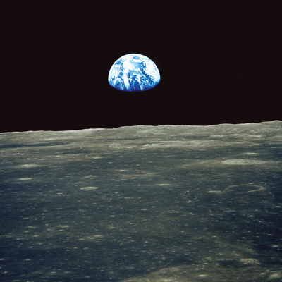 Earthrise Photographed From Apollo 11 Spacecraft Photographic Print by  NASA
