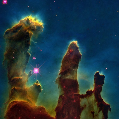 Gas Pillars In the Eagle Nebula Premium Photographic Print