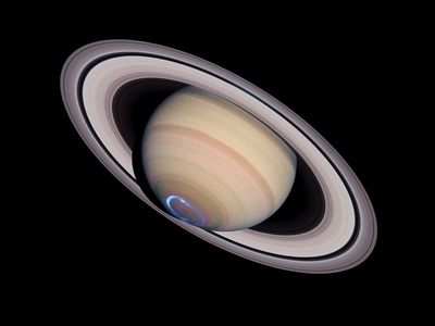 Aurora on Saturn Photographic Print by  NASA