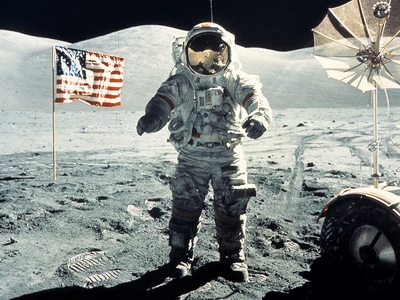 NASA Eugene Cernan on Moon Apollo 17