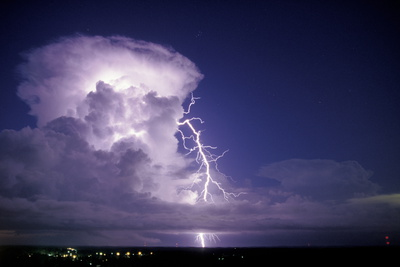 Lightning Photographic Print by Pekka Parviainen
