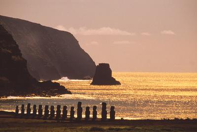 Easter Island Statues Photographic Print by David Nunuk