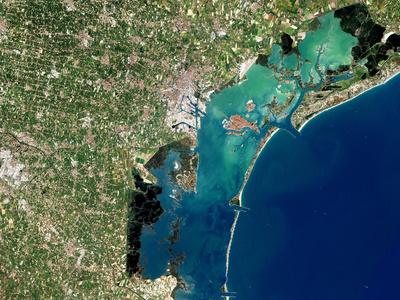 Venice, Satellite Image Premium Photographic Print by  PLANETOBSERVER