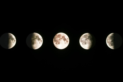 Composite Image of the Phases of the Moon Photographic Print by John Sanford