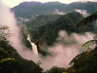 Waterfall And Mist In the Foothills of the Andes Premium Photographic Print by Dr. Morley Read