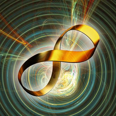 Infinity Symbol And Black Hole Lámina fotográfica prémium por  PASIEKA