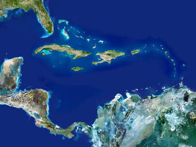 Caribbean, Satellite Image Photographic Print by  PLANETOBSERVER