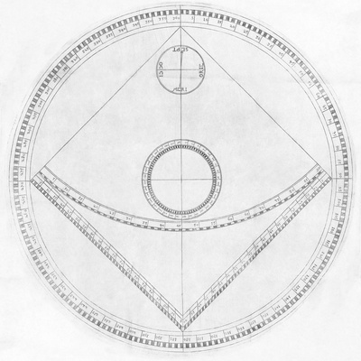 Trigonometry Calculator, 17th Century Lámina fotográfica prémium por Middle Temple Library