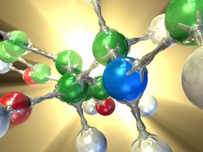 Adrenaline Hormone Molecule Photographic Print by David Mack