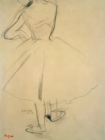 Ballet Dancer from Behind, 19th Century Giclee Print by Edgar Degas