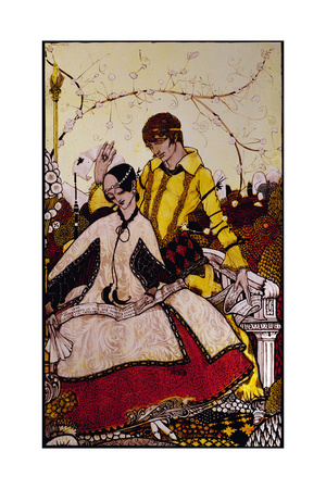 """""""Seven Dog-Days We Let Pass, Naming Queens in Glenmacnass"""" Illustration by Harry Clarke from… Giclee Print by Harry Clarke"""