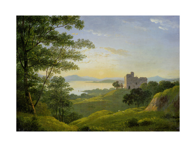 Sunset in the Western Highlands, C.1820 Giclee Print by John Knox