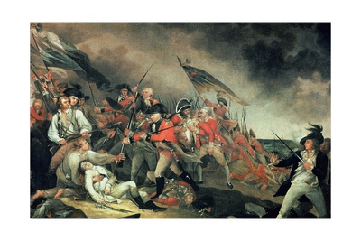 The Death of General Warren at the Battle of Bunker Hill in 1775, Painted C.1786 Giclee Print by John Trumbull