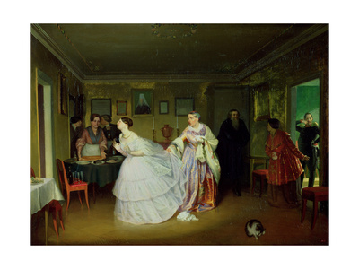 The Major's Marriage Proposal, 1851 Giclee Print by Pavel Andreevich Fedotov